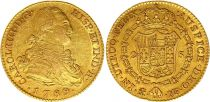 Spain 2 Escudos Charles IV - Arms 1789 M MF - Madrid Gold