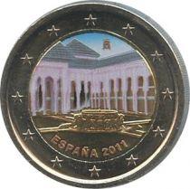 Spain 2 Euro Alhambra, colorised