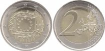 Spain 2 Euros 30 years of European Flag - 2015