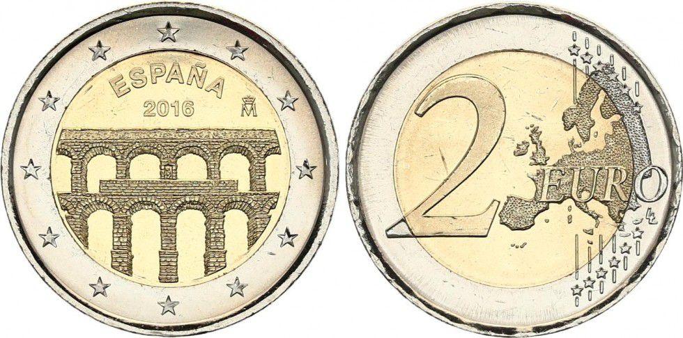 Spain 2 Euros Segovia - 2016
