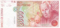 Spain 2000 Pesetas  - José Celestino Mutis - 1992 without serial