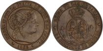 Spain 2.5 Centimos - Isabel II - 1868 OM