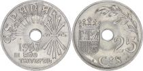 Spain 25 centimos - Republic  -1937