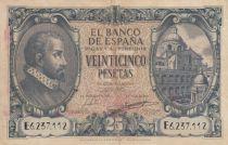 Spain 25 Pesetas - Juan de Herrera - 1940 - F to VF - P.116