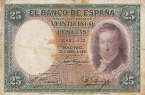 Spain 25 Pesetas 1931 - Vicente Lopez