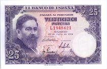 Spain 25 Pesetas Isaac Albeniz - 1954