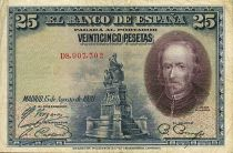 Spain 25 Pesetas P. Calderon de la Barca