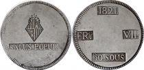 Spain 30 Sueldos Ferdinand VII - Arms - 1821 FRo VII Majorca
