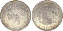 Spain 5 Pesetas Alfonso XIII - Armoiries -1896