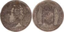 Spain 5 Pesetas Amadeo I - Arms - 1871 Silver