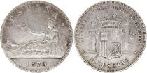 Spain 5 Pesetas Liberty seated - 1870 Silver