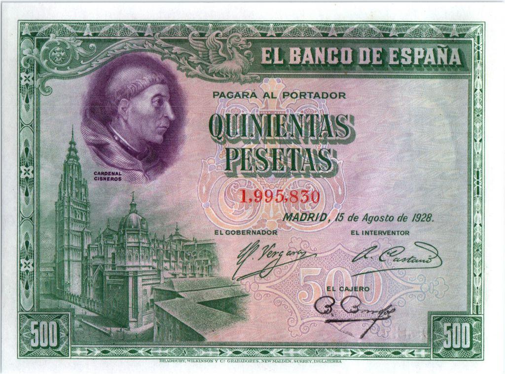 Spain 500 Pesetas Cardinal Cisneros - 1928