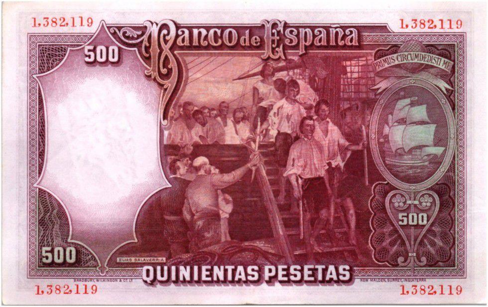 Spain 500 Pesetas J. S. de Elcano - 1931