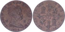 Spain 8 Maravedis - Isabel II - 1857 - KM.531