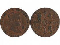Spain 8 Maravedis Isabel II - Arms - 1850