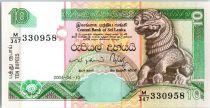Sri-Lanka 10 Rupees Chinze - Fleurs - Palais  - 10/04/2004