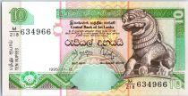Sri-Lanka 10 Rupees Chinze - Fleurs - Palais  - 15/11/1995