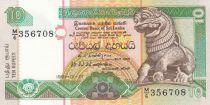 Sri-Lanka 10 Rupees Chinze - Fleurs - Palais - 1991 - P.102 - Neuf