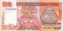 Sri Lanka 100 Rupees  Jug - Parrots - 1991 - P.105 UNC