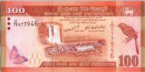 Sri-Lanka 100 Rupees 2010 -  Oiseau - Danseurs