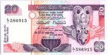 Sri-Lanka 20 Rupees, Masque rituel - Pécheurs - 1991 - P.103