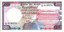 Sri-Lanka 20 Rupees, Pierre de Lune - Sanctuaire de Dagoba - 1983 - P.93