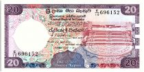 Sri-Lanka 20 Rupees, Pierre de Lune - Sanctuaire de Dagoba - 1989 - P.97 b