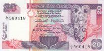 Sri-Lanka 20 Rupees Masque de nativité - Pêcheurs - 1991 - P.103 Neuf