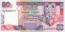 Sri Lanka 20 Rupees Native bird mask - Fishermen - 1995 - P.109 UNC