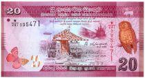 Sri-Lanka 20 Rupees Oiseau - Danseurs 2015