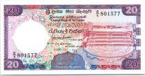Sri-Lanka 20 Rupees Pierre de lune - Sanctuaire de Dagoba - 1988