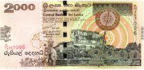 Sri-Lanka 2000 Rupees 2006 - Montagne, Eléphants, forêt, fresque