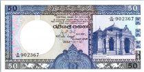 Sri-Lanka 50 Rupees 1982 - Maison du raja de Kelaniya - Ruines