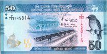 Sri-Lanka 50 Rupees 2016 -  Oiseau - Danseurs