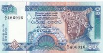Sri Lanka 50 Rupees Male dancer - Temple - 1991 - P.104 UNC