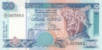 Sri Lanka 50 Rupees Male dancer - Temple - 1995 - P.110 UNC