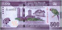 Sri-Lanka 500 Rupees 2013 - Oiseau - Danseurs - CHOGM 2013