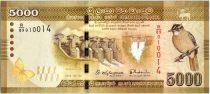 Sri-Lanka 5000 Rupees 2015 - Oiseau - Danseurs