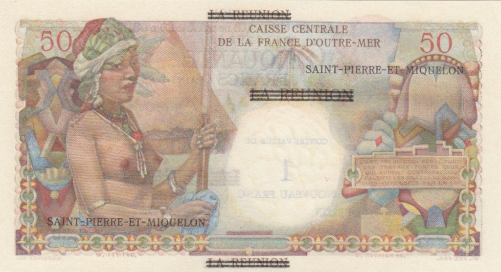 St-P. et Miquelon 1 NF/50 Francs - Belain d\'Esmanduc - 1960 - Série J.30