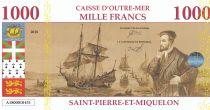 St-P. et Miquelon 1000 Francs Jacques Cartier - Port de St Pierre - 2018 - Fantaisie