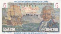 St-P. et Miquelon 5 Francs Bougainville - 1946  - Série C.81 - Neuf