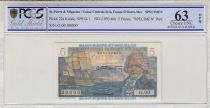 St-P. et Miquelon 5 Francs Bougainville - 1946  - SPECIMEN - PCGS 63 OPQ