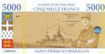 St-P. et Miquelon 5000 Francs Charles de Gaulle - Vue de St Pierre - 2018 - Fantaisie