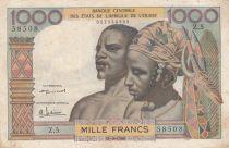 Staaten von Westafrika 100 Francs mask 1959 - Serial Z.5