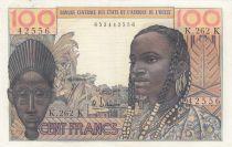 Staaten von Westafrika 100 Francs masque 1964 - K Sénégal