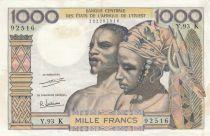 Staaten von Westafrika 1000 Francs river 1965 - Serial Y.93