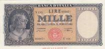 Staaten von Westafrika 1000 Lire 1947 - Italia  -Serial V133