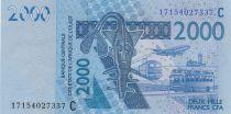Staaten von Westafrika 2000 Francs Mask - Fish - Burkina Faso 2017