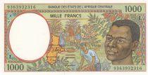 Staaten Zentralen Afrikas 1000 Francs 1993 - Young man, river - L = Gabon