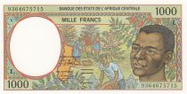 Stati dell\'Africa centrale 1000 Francs 1993 - Young boy, river  - L = Gabon